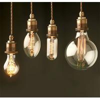 Декоративні лампочки - види і форми ретро ламп