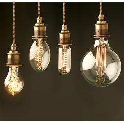Декоративные лампочки - виды и формы ретро ламп