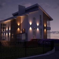 Зовнішнє освітлення заміського будинку