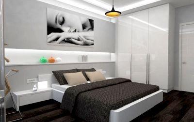 Современная мебель в спальне