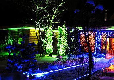 подсветка лед лентой на улице