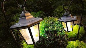 подвесные уличные светильники для освещение сада