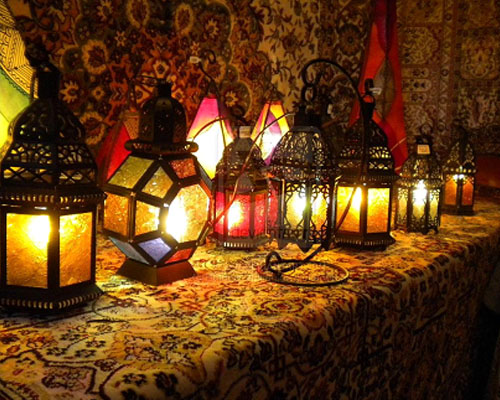 Настольные лампы в восточном стиле
