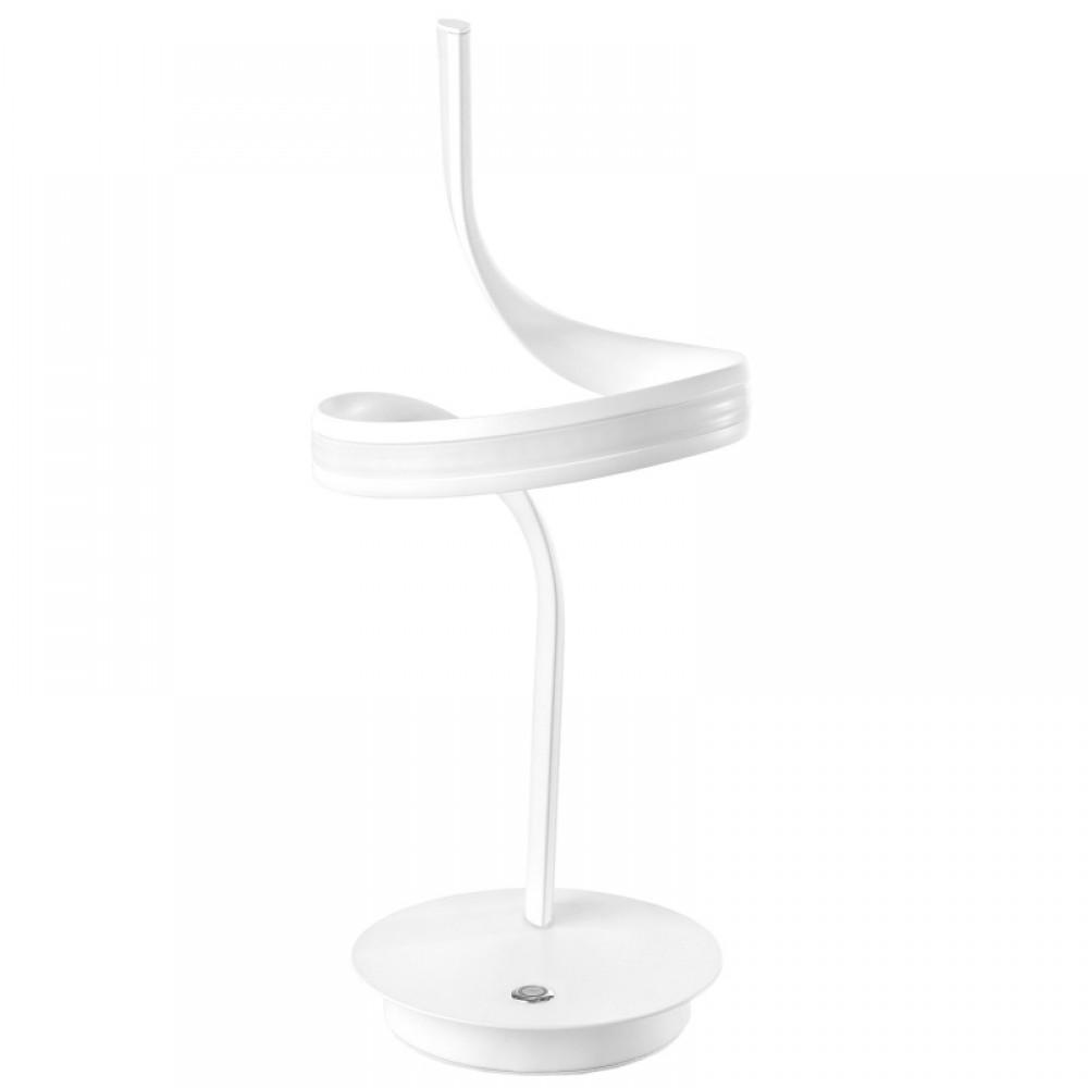 Белая настольная лампа оригинальной формы