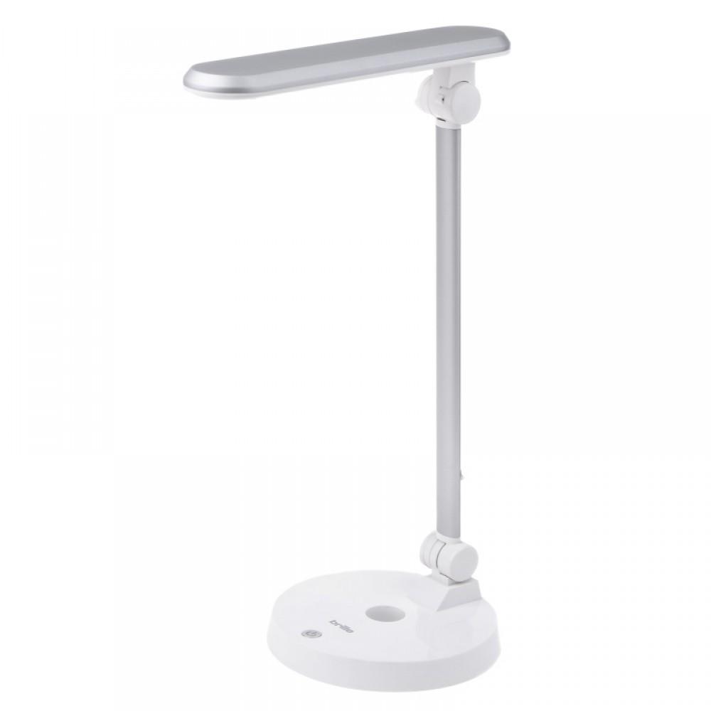 Белая настольная лампа офисного типа