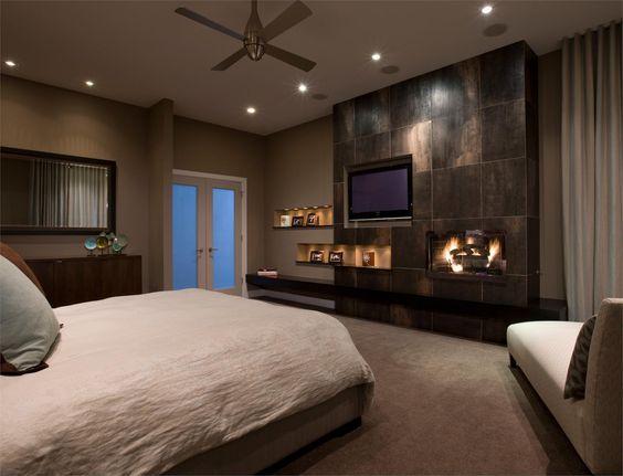 фото точечные светильники в интерьере спальни