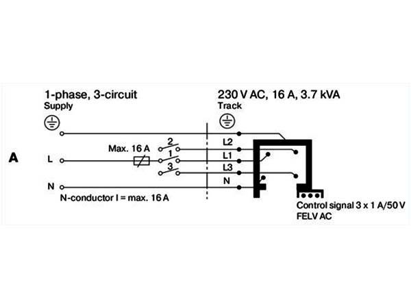 трековые светильники схемы подключения