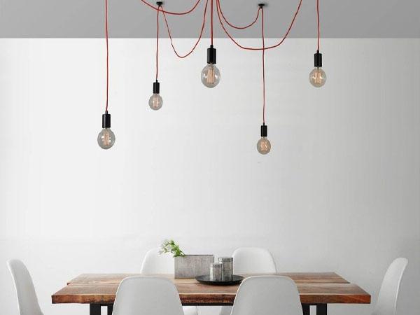Филаментная лампа в интерьере минимализм