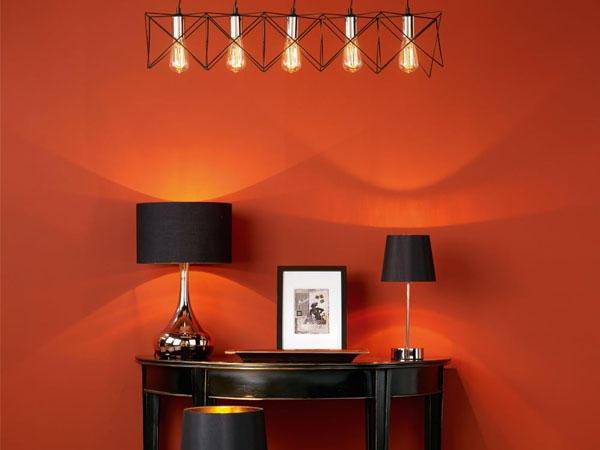 Филаментная лампа в интерьере ретро