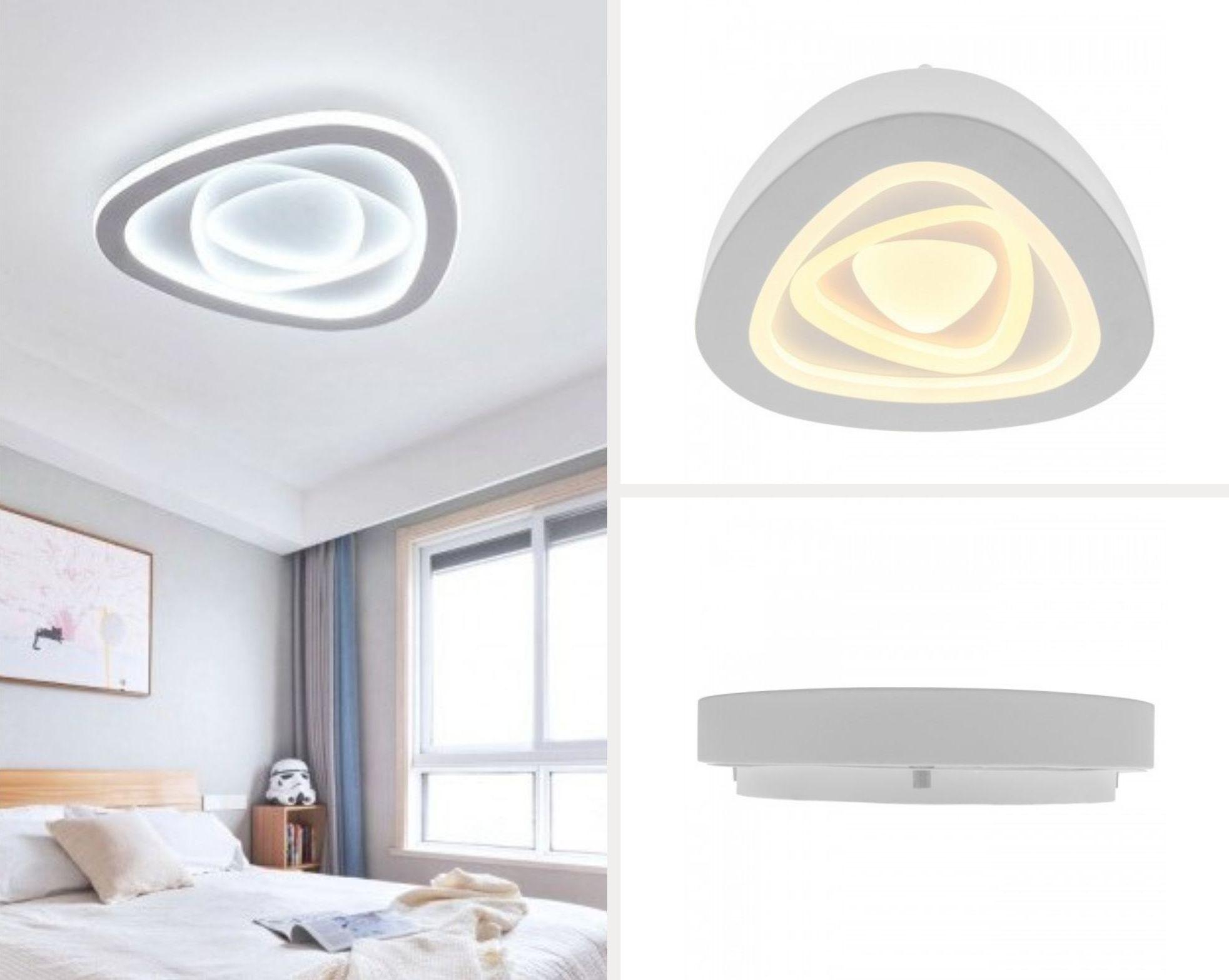 светодиодный светильник на потолок в интерьере, фото