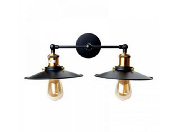 Настенный светильник лофт на две лампы