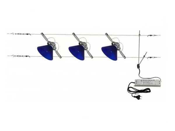 Сучасний світильник на тросах, струнах