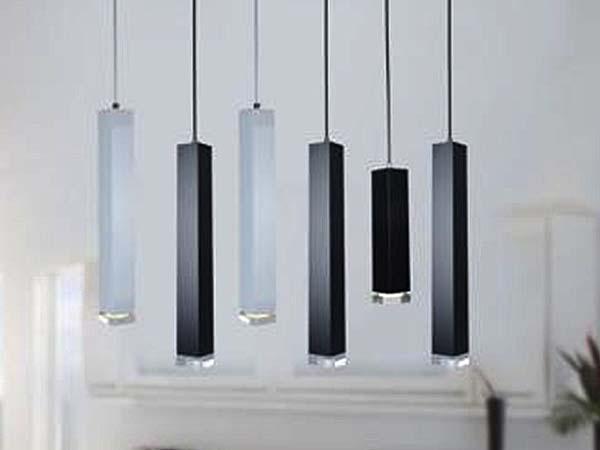світильники тубуси для вітальні, світильник факел