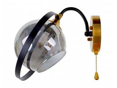 світильник з мотузковим вимикачем, мотузковий вимикач, купити бра з мотузковим вимикачем