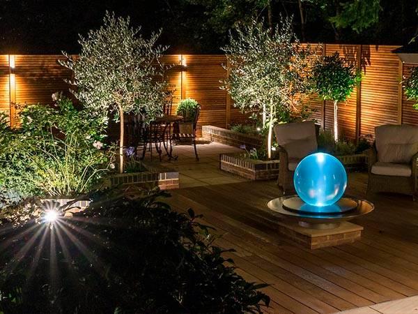 освещение растений в загородных домах