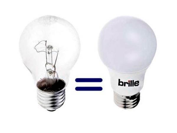 світлодіодна лампа і лампа розжарювання порівняння конструкцій