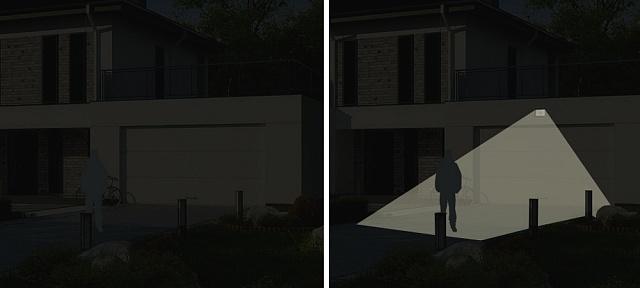 Охоронне освітлення дачної ділянки, світлова охорона заміського будинку
