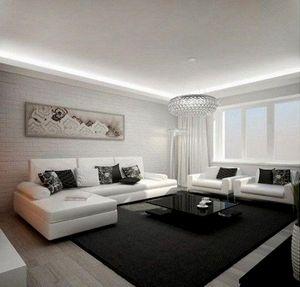 Дизайн освітлення стель у вітальні