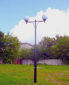 простой вариант фонарного столба с двумя плафонами