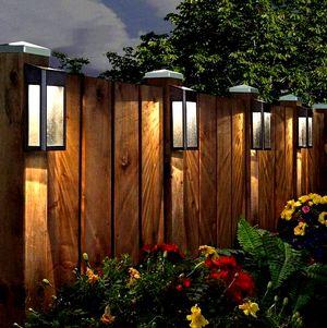 Уличные светильники для сада на забор