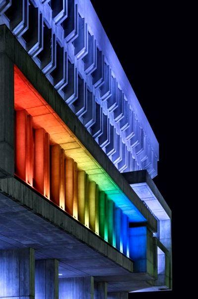 Светильники для подсветки фасада здания
