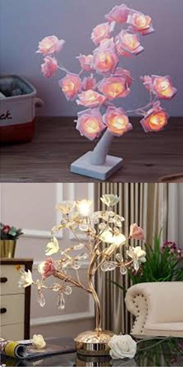 настольные лампы флористика