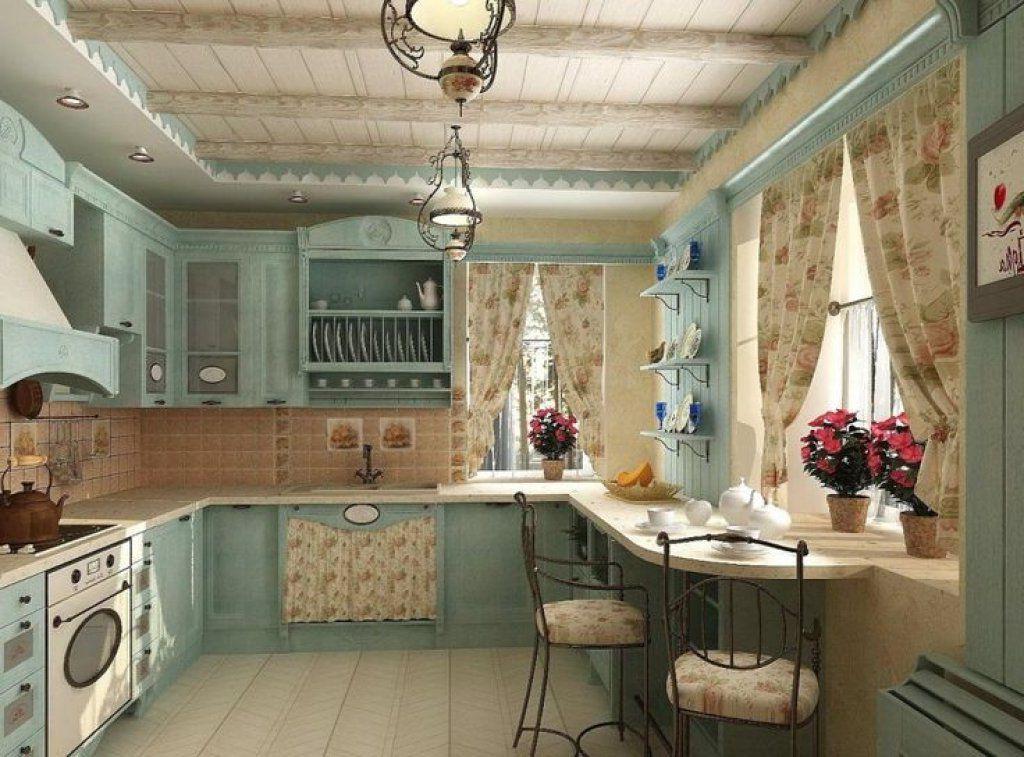 інтер'єр кухні в стилі прованс, фото, приклад