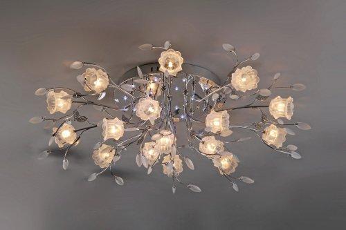 Комбинированная светодиодная люстра для гостиной