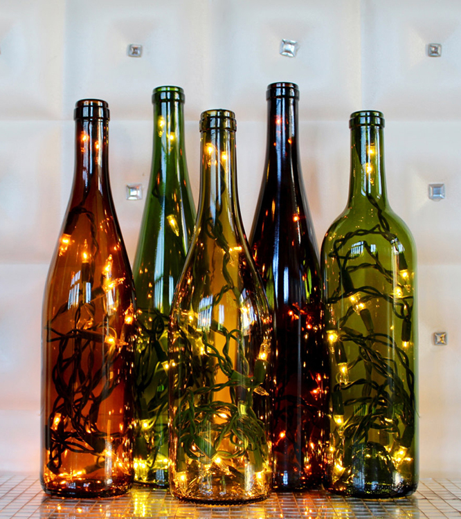 світильник з гірлянди своїми руками з простої пляшки