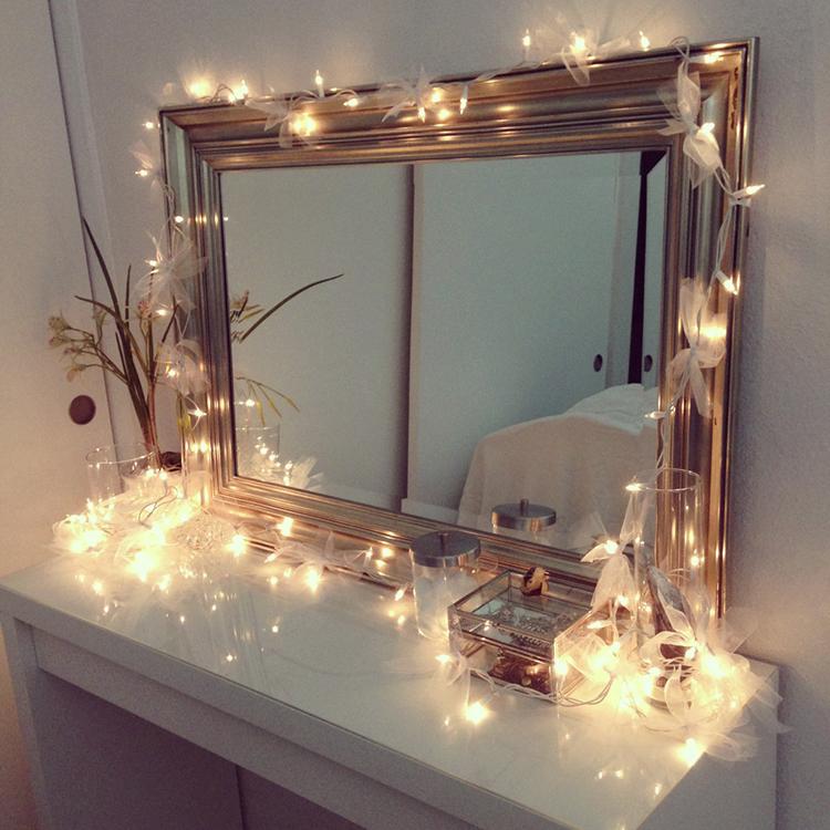 Подсветка для комнатных зеркал гирляндами