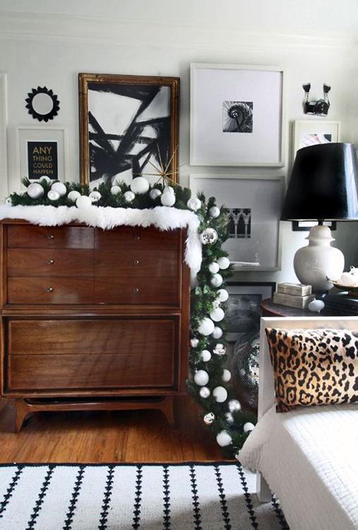 украсить мебель гирляндами